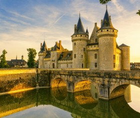 French traditional European castle Stock Photo 03