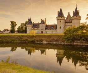 French traditional European castle Stock Photo 04