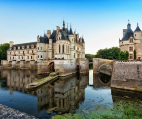 French traditional European castle Stock Photo 05