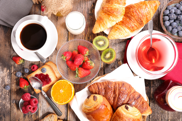 fruit bread coffee breakfast hd picture free download