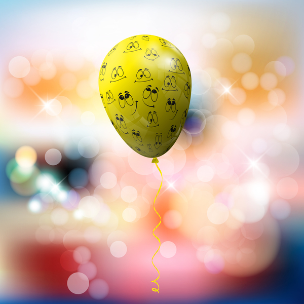 Funny balloon with blurs background vector