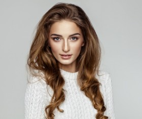 Girl wearing a white sweater HD picture 01