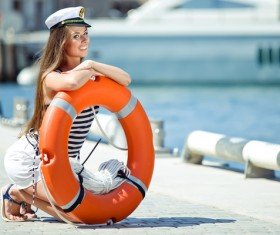 Girl with swim ring HD picture 01