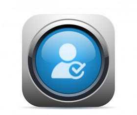 Glass texture user icon