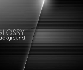 Glossy black background vector 01