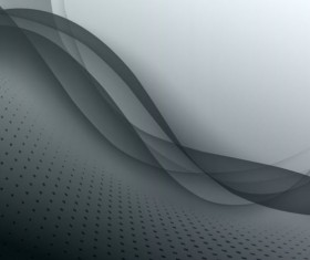Gray wavy background with abstract vector