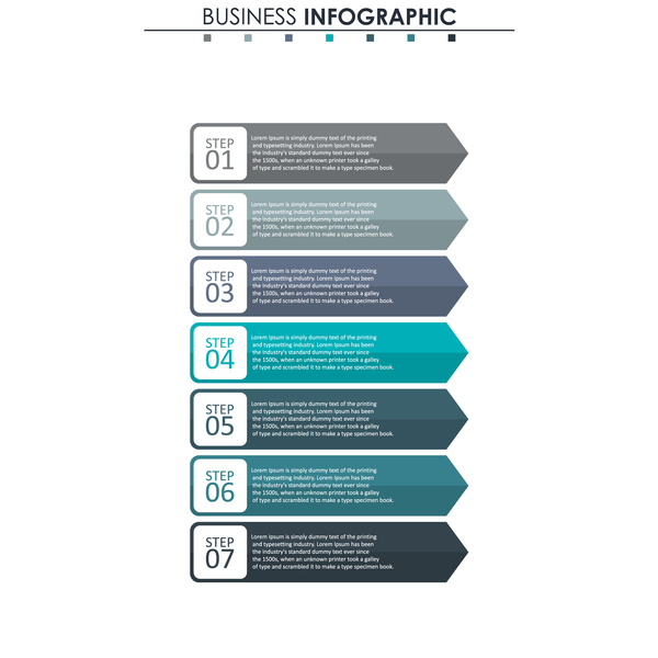 Gray with blue infographic template vectors 02