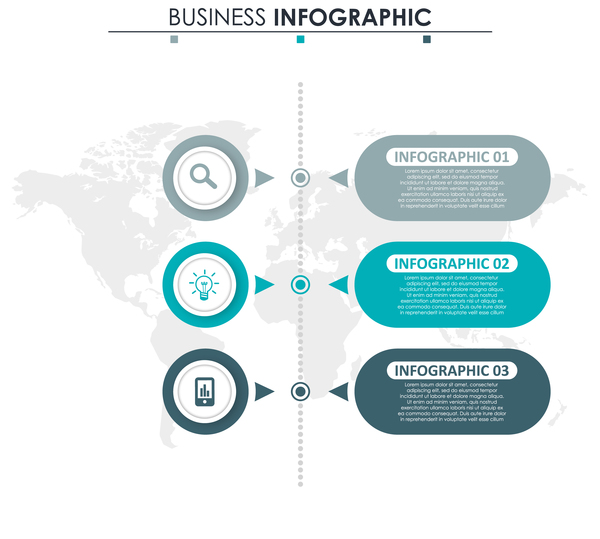 Gray with blue infographic template vectors 23