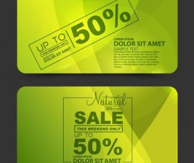 Greeb sale discounts card vector