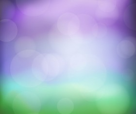 Green with purple bokeh vector backgrounds