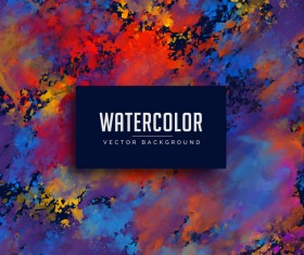 Grunge watercolor vector background 01