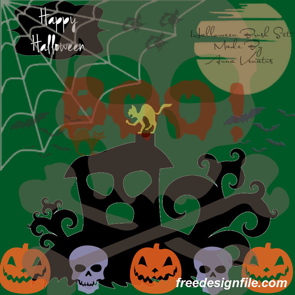 Halloween Set Photoshop Brushes