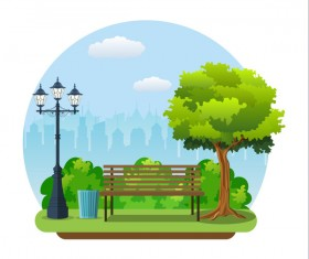 Healthy city background illustration vector 01