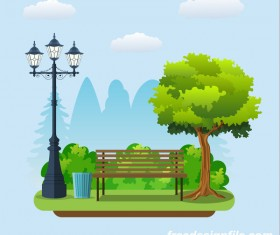Healthy city background illustration vector 02