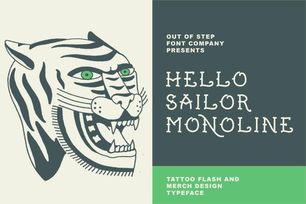 Hello Sailor Monoline Demo font