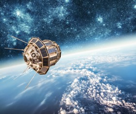 In orbit satellite Stock Photo 02