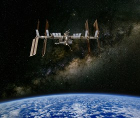 International Space Station Stock Photo