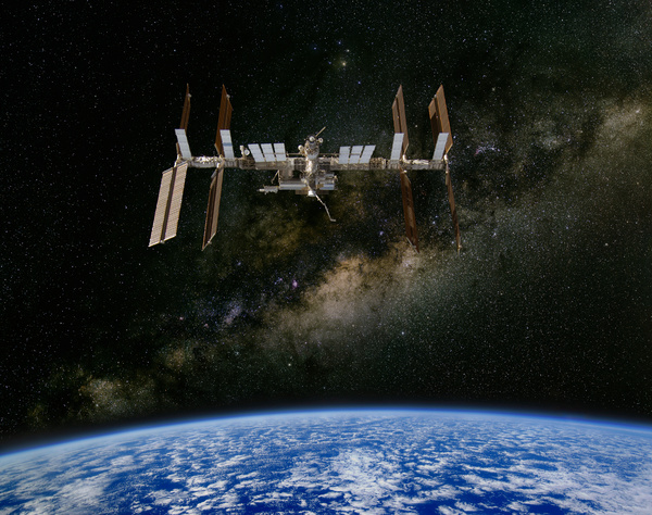 International Space Station Stock Photo
