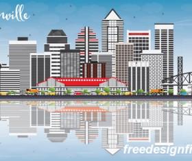 Jacksonville city landscape vectors