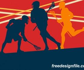 Lacrosse sport design vector silhouette 07