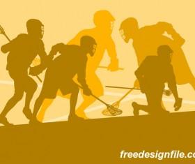 Lacrosse sport design vector silhouette 10