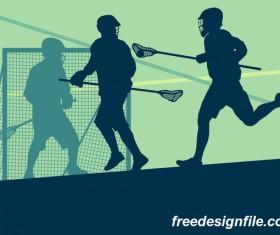 Lacrosse sport design vector silhouette 11