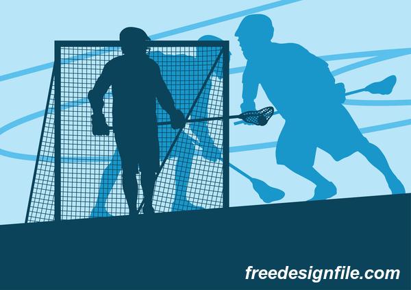Lacrosse sport design vector silhouette 12