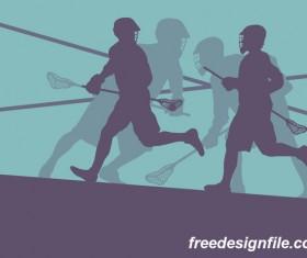 Lacrosse sport design vector silhouette 14