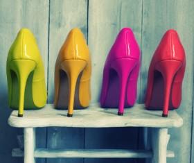 Ladies high heels Stock Photo