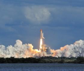 Launch spacecraft Stock Photo