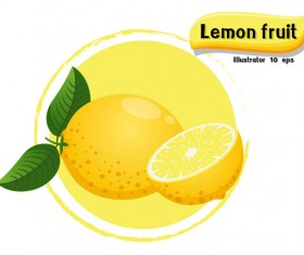 Lemon fruit illustration vector