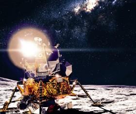 Lunar explorer car Stock Photo