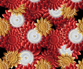 Luxury flowers seamless pattern vectors 05