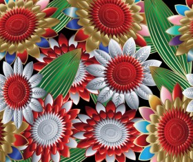 Luxury flowers seamless pattern vectors 06