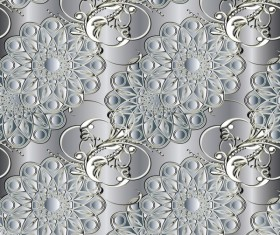 Luxury flowers seamless pattern vectors 07