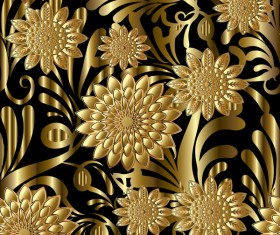 Luxury flowers seamless pattern vectors 09