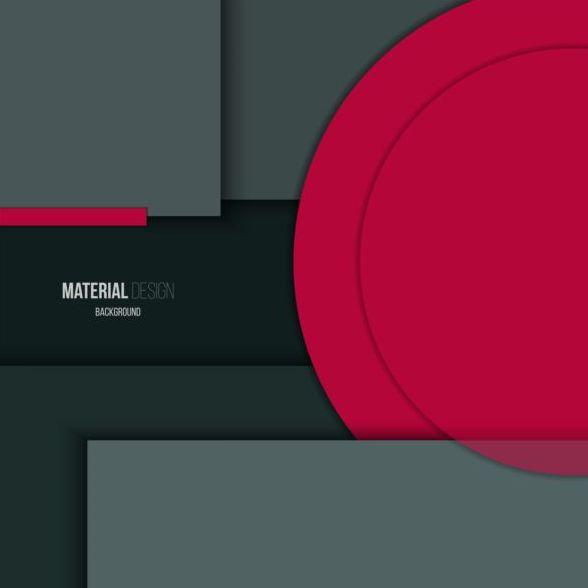 Material design modern background vector
