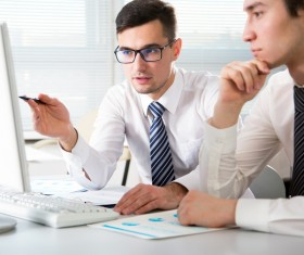 Men in the workplace Stock Photo 02