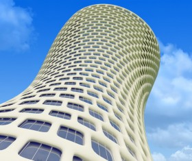 Modeling peculiar architecture Stock Photo 05