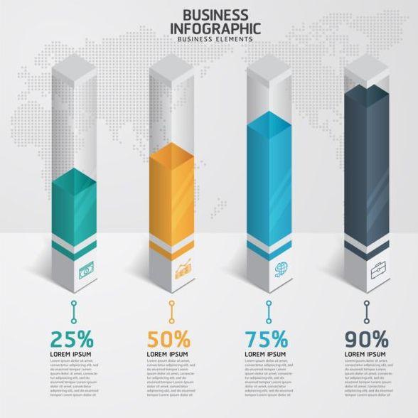 Modern design template infographics vector