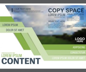 Modern green styles flyer and cover brochure vector template 01