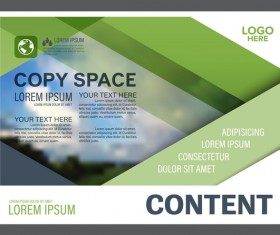 Modern green styles flyer and cover brochure vector template 02
