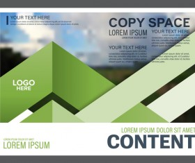 Modern green styles flyer and cover brochure vector template 03