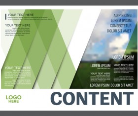 Modern green styles flyer and cover brochure vector template 05