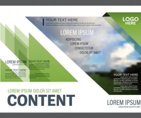Modern green styles flyer and cover brochure vector template 07