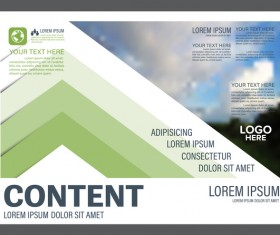 Modern green styles flyer and cover brochure vector template 08