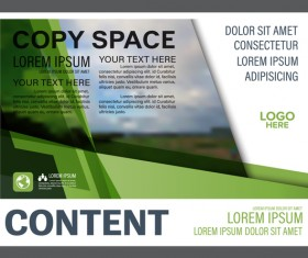 Modern green styles flyer and cover brochure vector template 10