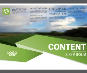 Modern green styles flyer and cover brochure vector template 11