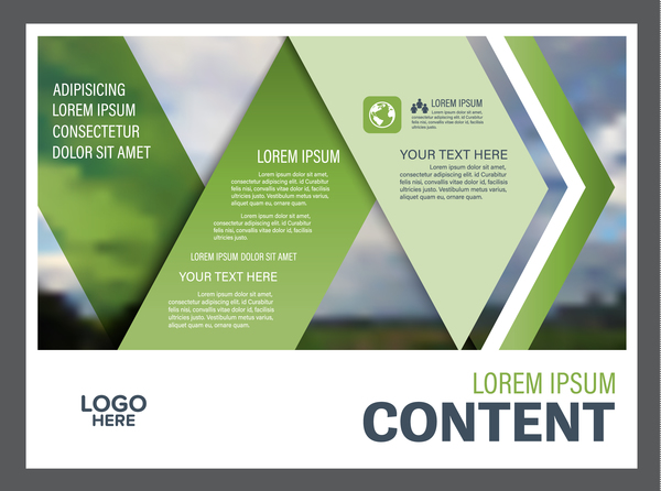 Modern green styles flyer and cover brochure vector template 12