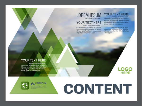 Modern Green Styles Flyer And Cover Brochure Vector